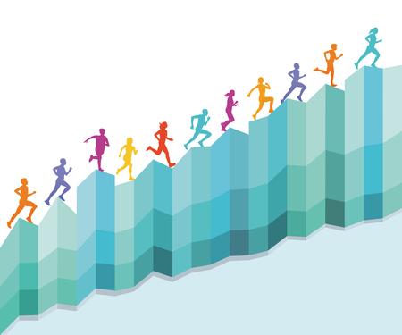 Illustration pour Career stairs, concept icon - image libre de droit