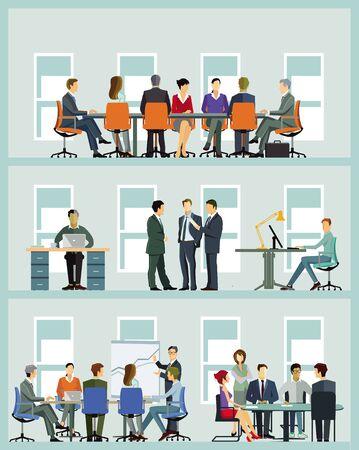 Illustration pour Business team at cooperation - illustration - image libre de droit