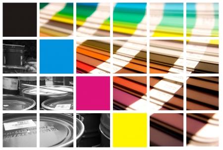 Photo pour pantone and cmyk color in beautiful collage  - image libre de droit