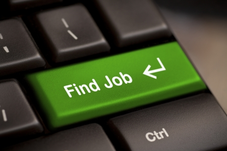 the green find job enter button key