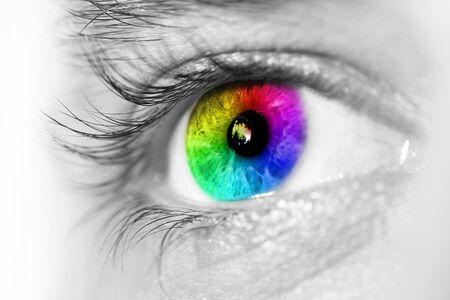 Foto de  blue eye  Side view - Imagen libre de derechos