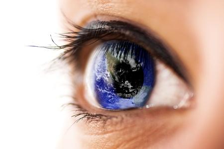 Eye with planet earth  Earth