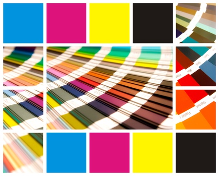pantone and cmyk color in beautiful collage