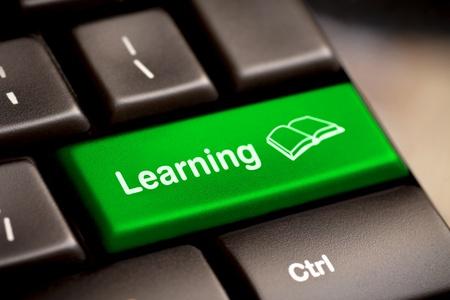 Photo pour Computer Keyboard e-Learning Concept  - image libre de droit