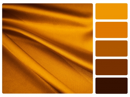 gold satin colour palette with complimentary swatches