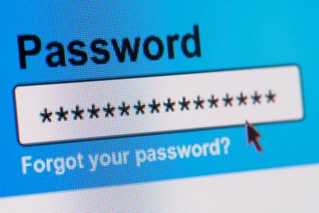 Photo pour Closeup of Password Box in Internet Browser - image libre de droit