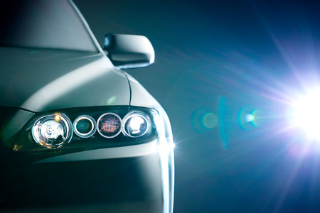 Photo pour blue modern car closeup - image libre de droit
