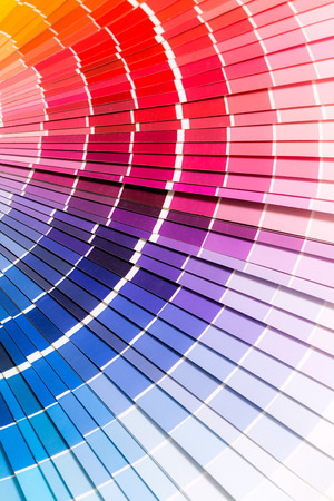 Colour swatches book  Rainbow sample colors catalogue