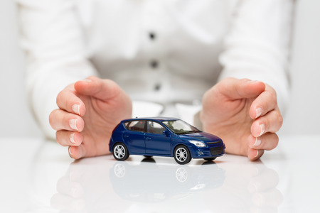 Protection of car  Business concept