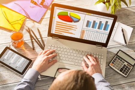 Photo pour Graph Marketing Digital Analysis Finance Concept -  Stock Image - image libre de droit