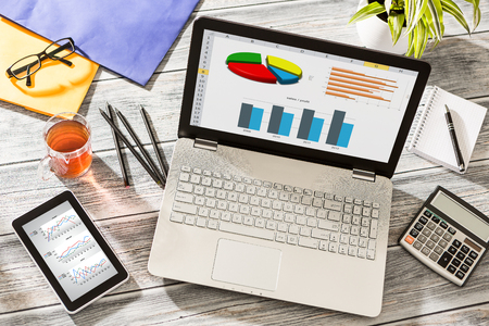 Photo for Graph Marketing Digital Analysis Finance Concept -  Stock Image - Royalty Free Image