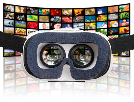 virtual vr glasses goggles headset - stock image