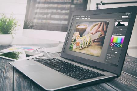 Photo for photographer camera editor monitor design laptop photo screen photography - stock image - Royalty Free Image
