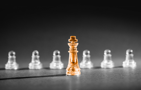 Foto de Chess business success, leadership concept. - Imagen libre de derechos
