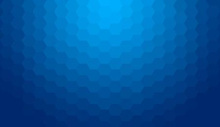 Ilustración de Blue abstract geometric gradient hexagon pattern background - Imagen libre de derechos