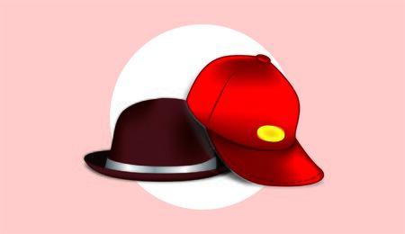 Red Cap & Brown Skullcap