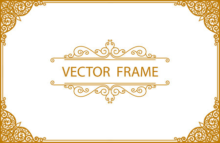 Illustration pour Thai art with Golden border frame - image libre de droit