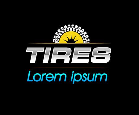 Tires Logo Design Concept. EPS 8 supported.