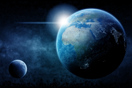 Planet Earth half night