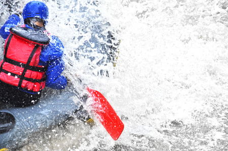 Rafting close up