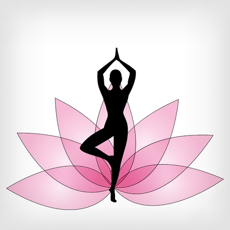 abstract yoga background - vector illustration