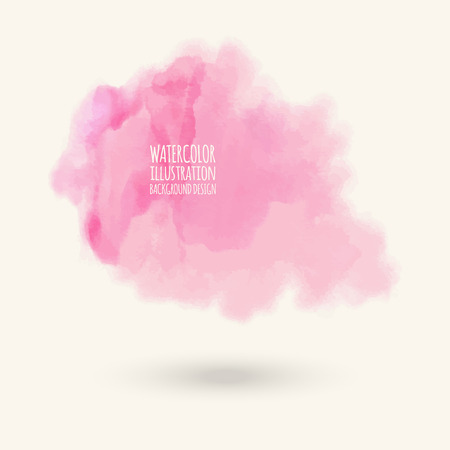 Vector pink brush strokes  Watercolor Grunge isolated