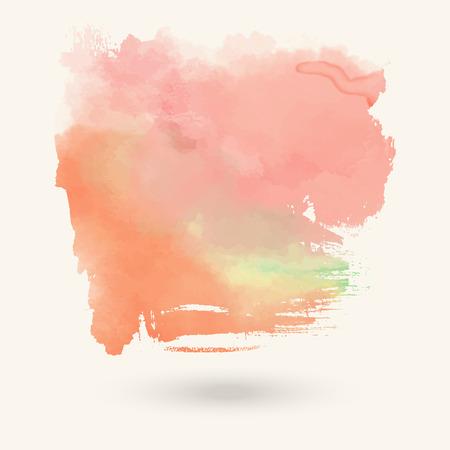 Vector green pink watermelon brush strokes  Watercolor