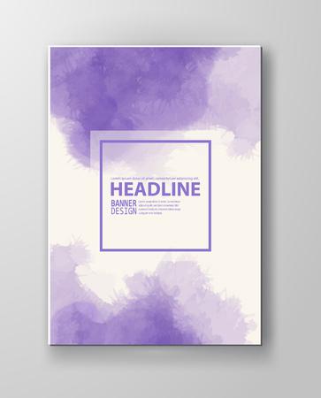 Illustration pour Watercolor purple color design banner . Vector illustration - image libre de droit