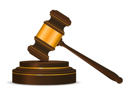 Gavel symbol as a concept of law or auction