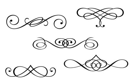 Illustration for Design elements and monograms isolated on white - Royalty Free Image