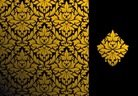 Seamless background and floral pattern for ornate