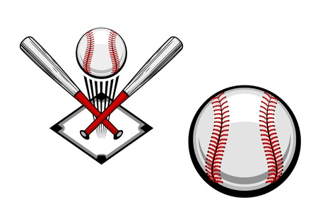 Baseball emblems set for sports design or mascot