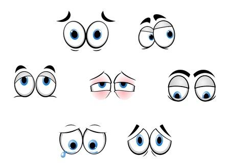 Set of cartoon funny eyes for comics design