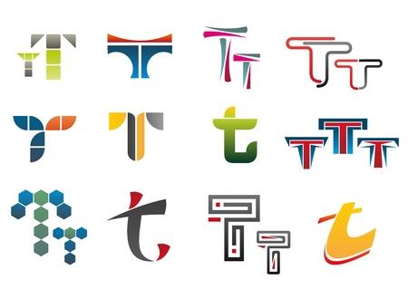 Set of alphabet symbols of letter T