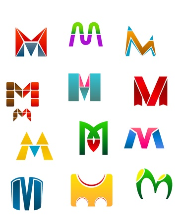 Set of alphabet symbols of letter M