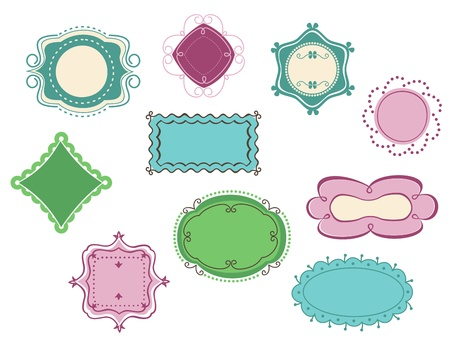 Doodle frames and borders set  for design