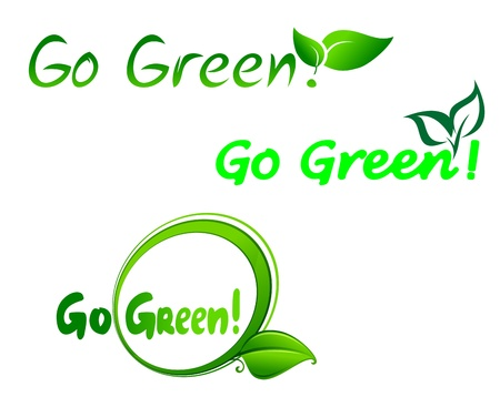 Set of go green symbols for ecology design