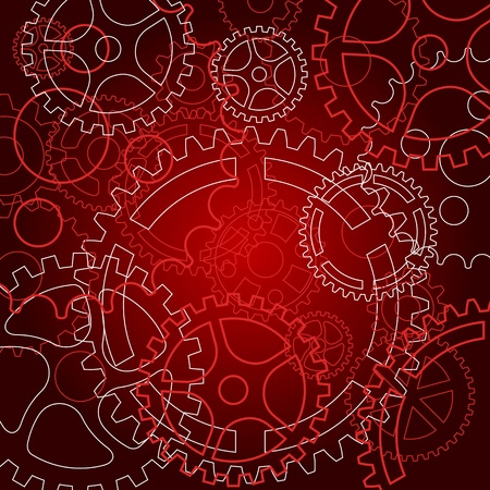 Abstract background with gears for technology or time concept design