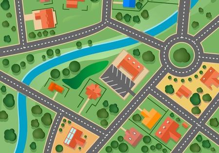 Map of suburb village for sold real estate design
