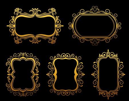 Vintage frames and borders set for ornate and embellishment