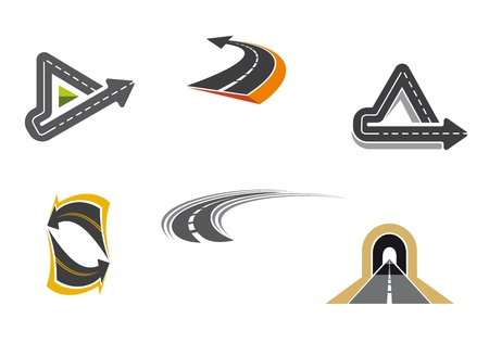 Foto de Set of road and highway icons and symbols for transportation design - Imagen libre de derechos