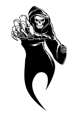 Illustration pour Black horror - danger death with bones for fear concept - image libre de droit