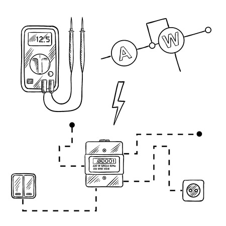 Digital voltmeter, electricity meter with socket and ... on light of electricity, table of electricity, circuit of electricity, form of electricity, color of electricity, equation of electricity, diorama of electricity, art of electricity, web of electricity, drawing of electricity, process of electricity, information of electricity, flow of electricity, symbol of electricity, timeline of electricity, model of electricity, cartoon of electricity, statistics of electricity, graphic of electricity, illustration of electricity,