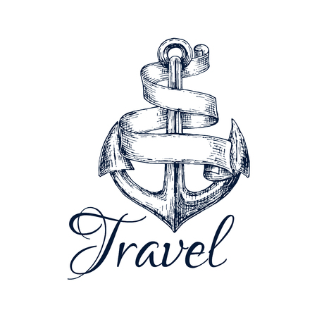 Vector of Travel icon  Anchor and spiral - ID:64242600