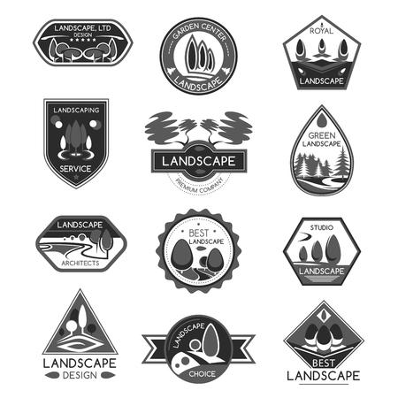 Landscape Design Company Vector Icons Set Tasmeemme Com