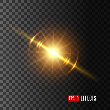 Ilustración de Light flash or sunshine effect vector icon - Imagen libre de derechos