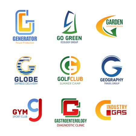 Vector letter G icons for corporate identity