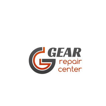 Vector icon for repair center  Auto service concept, diagnostic and