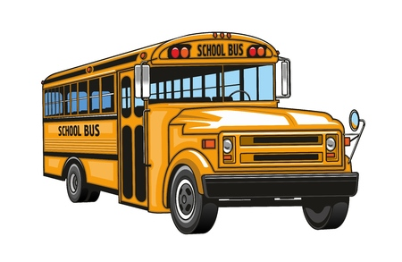 Illustration for School bus cartoon. - Royalty Free Image