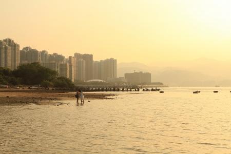 sunset of Coastline Ma O shan